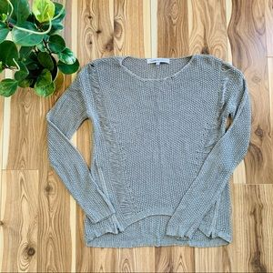 CUPCAKES & CASHMERE | knit sweater grey size small